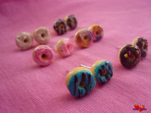 Серьги гвоздики из полимерной глины своими руками