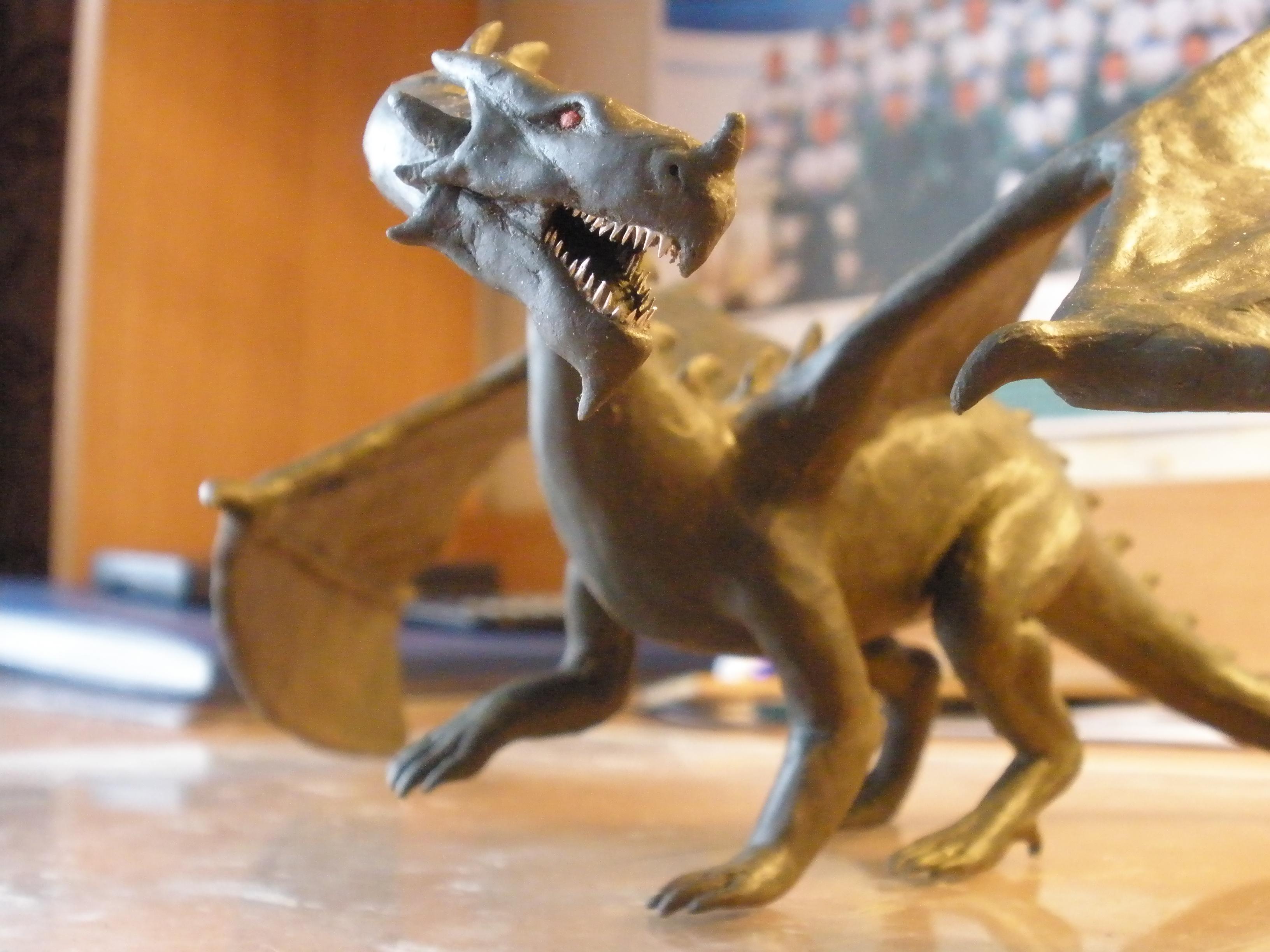 Как сделать дракона из пластилина фото