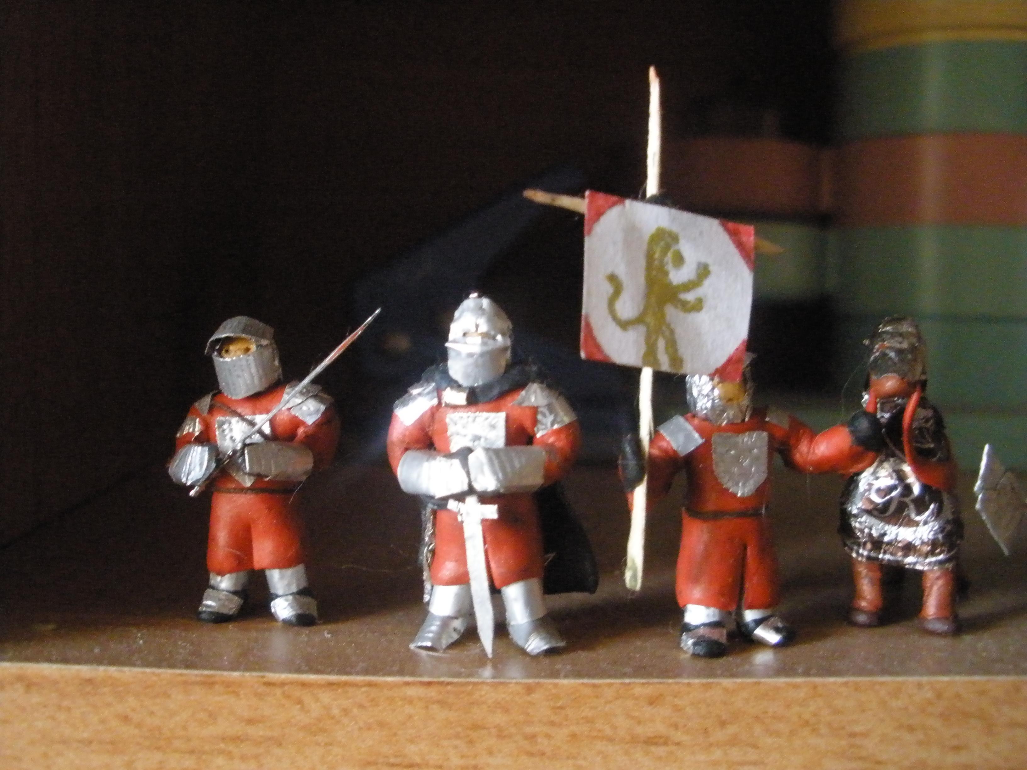 Как сделать из пластилина сделать рыцари