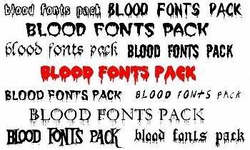 23 Blood Fonts