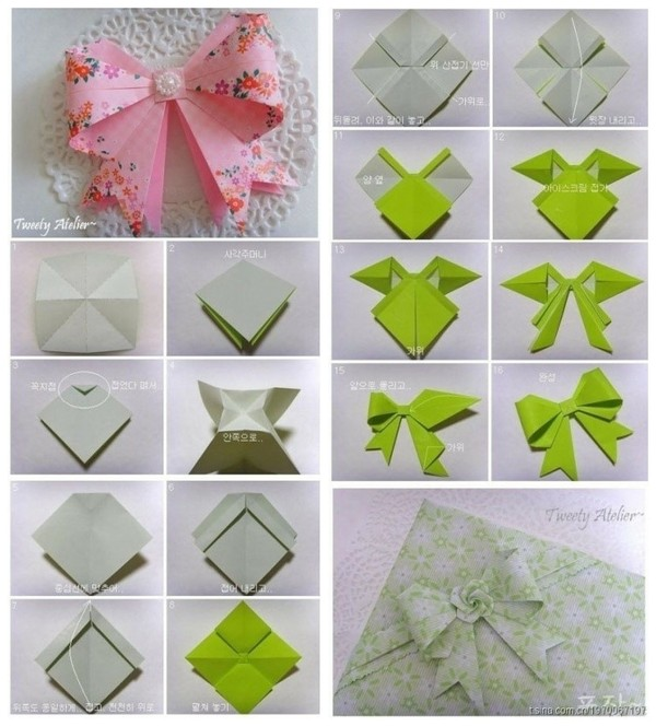 ORIGAMI on Pinterest | Origami Bow, Paper Snowflakes and ... - photo#40