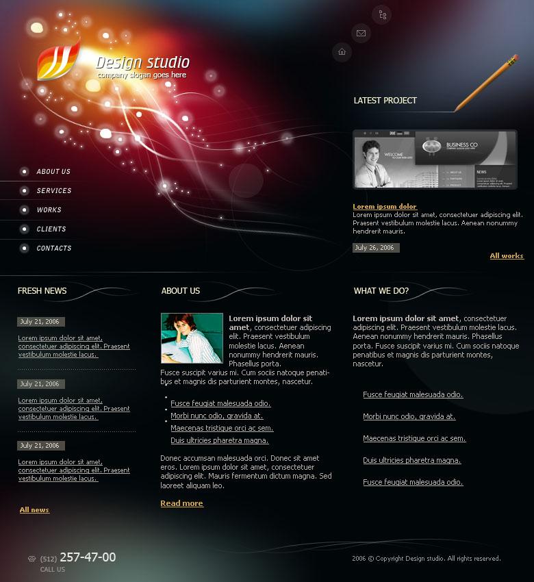 Шаблоны дизайн сайта