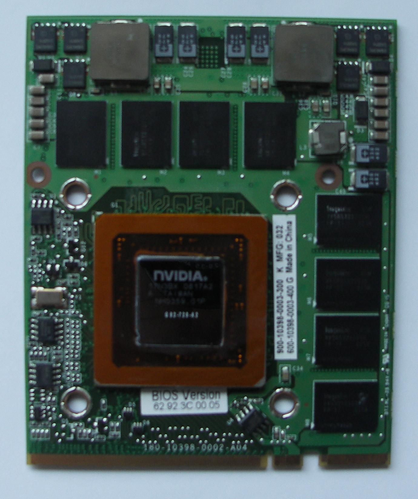 NVidia GeForce 9800M GT Drivers