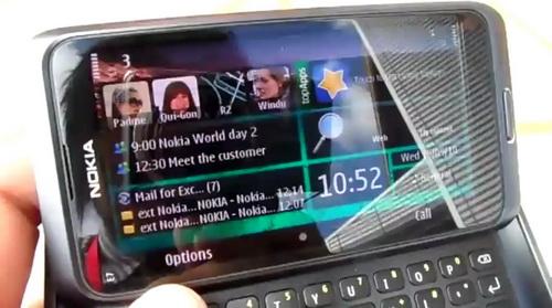 Поведенение дисплея Nokia E7 на солнце