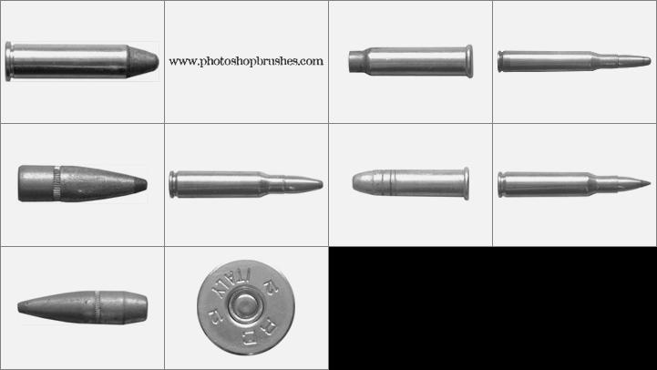 кисти для фотошопа пули: