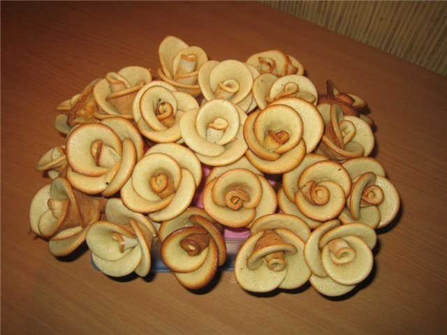Розы из теста своими руками