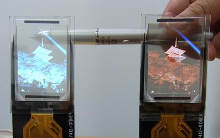 Гибкие полупрозрачные дисплеи от TDK